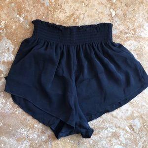 Express (One Eleven) elastic flowy black shorts